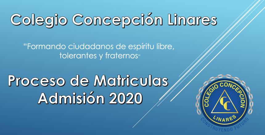 matriculas 2020